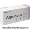 Адепресс: инструкция по применению, аналоги, побочные действия (антидепрессанты - препараты обратного захвата серотонина)