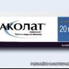 Аколат – об инструкции по применению, составе, действии, показаниях, побочных эффектах, аналогах, противопоказаниях