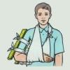 Какая первая медицинская помощь оказывается при переломах костей