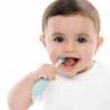 Молочные зубы маленького ребенка