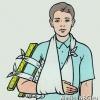 Перелом руки, запястья, локтя