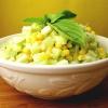Салат из китайской капусты, кукурузы и сельдерея