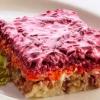 Салат под шубой: слои