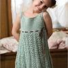 Вязание платья крючком. Схемы и описание вязания платья для девочек