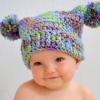 Вязаные шапочки для новорожденных крючком: мастер-класс со схемами и подробным описанием