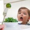 Введение овощей в рацион ребенка